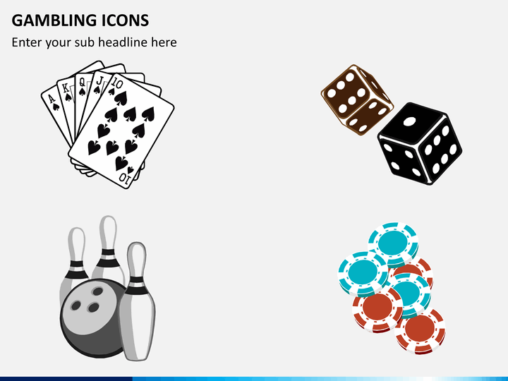 Gambling icons PPT slide 1