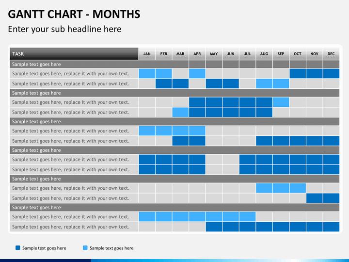 Gantt Chart PowerPoint Template | SketchBubble