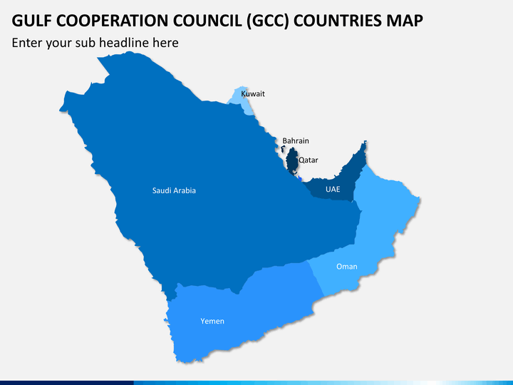 Gulf council map PPT slide 1