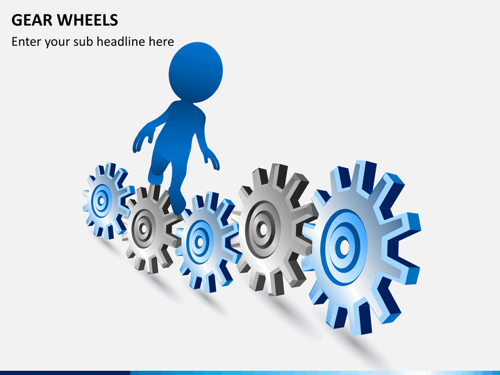 Gear wheels PPT slide 1