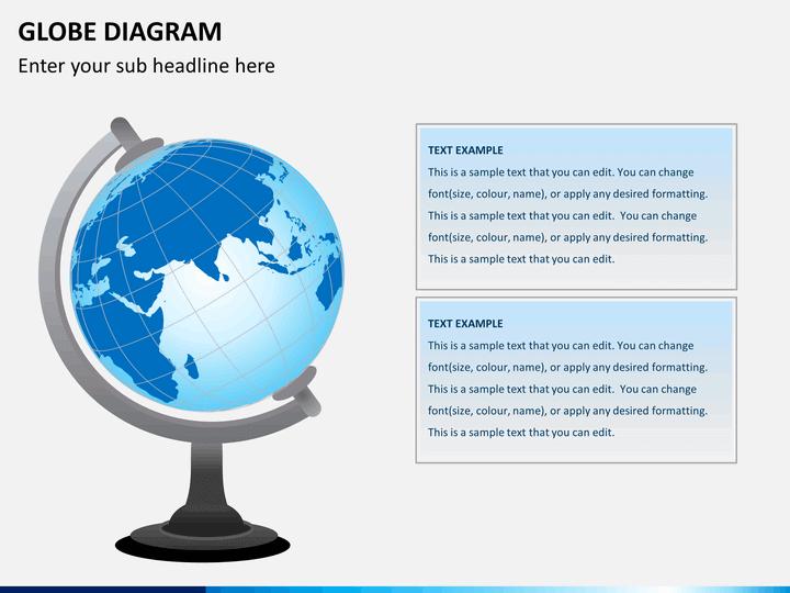 Globe diagram PPT slide 1