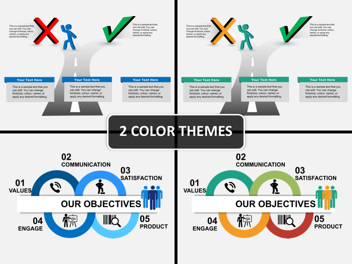 Goals and objectives PPT cover slide