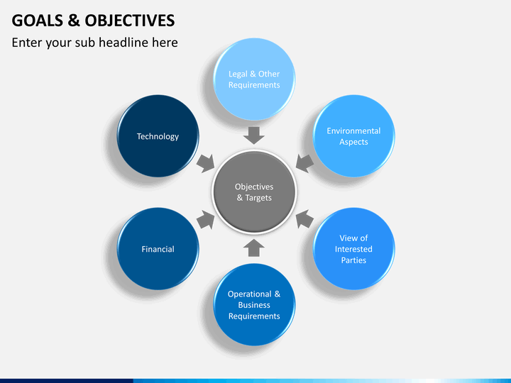 Goals and Objectives PowerPoint Template | SketchBubble