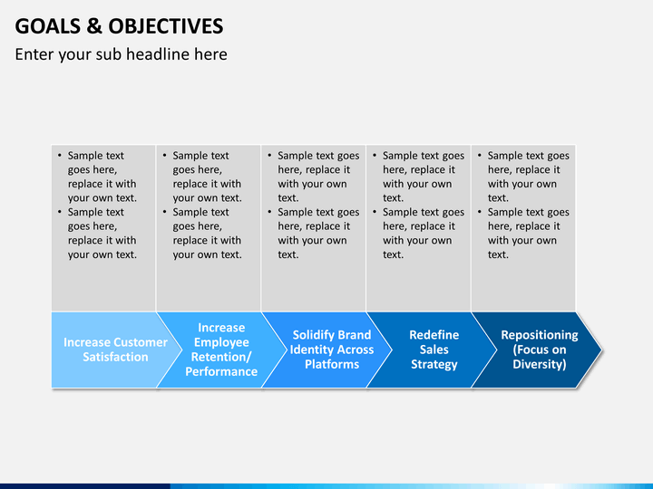 Goals and objectives powerpoint template sketchbubble for Strategic planning goals and objectives template