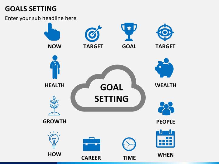 goals setting powerpoint template sketchbubble. Black Bedroom Furniture Sets. Home Design Ideas