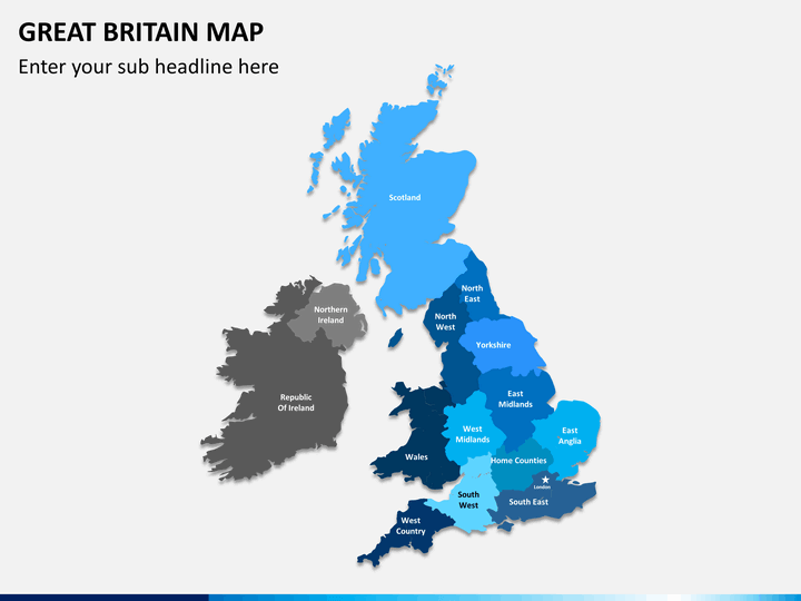 great britain  uk  map powerpoint