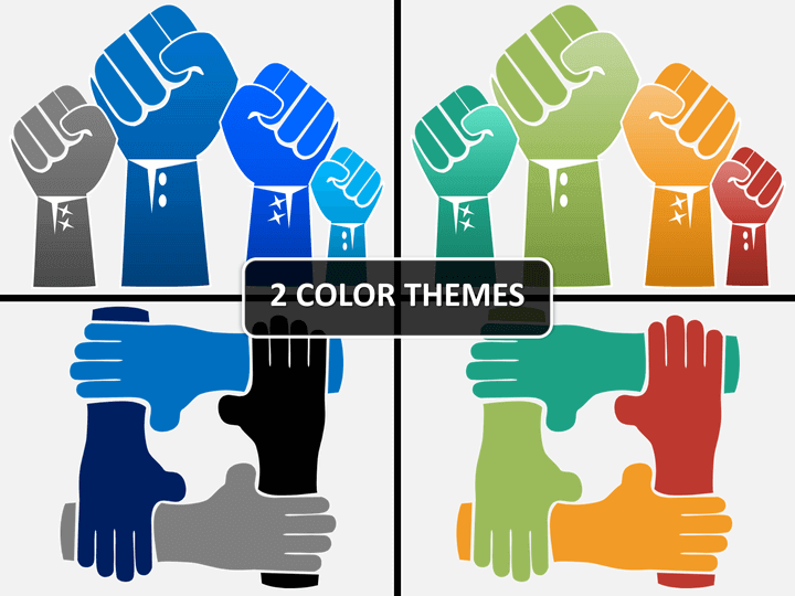 Hands shapes PPT cover slide