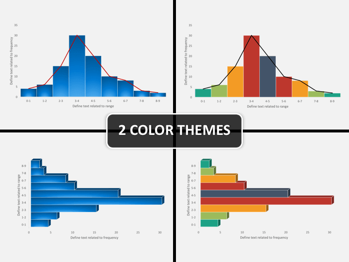Histogram chart PPT cover slide
