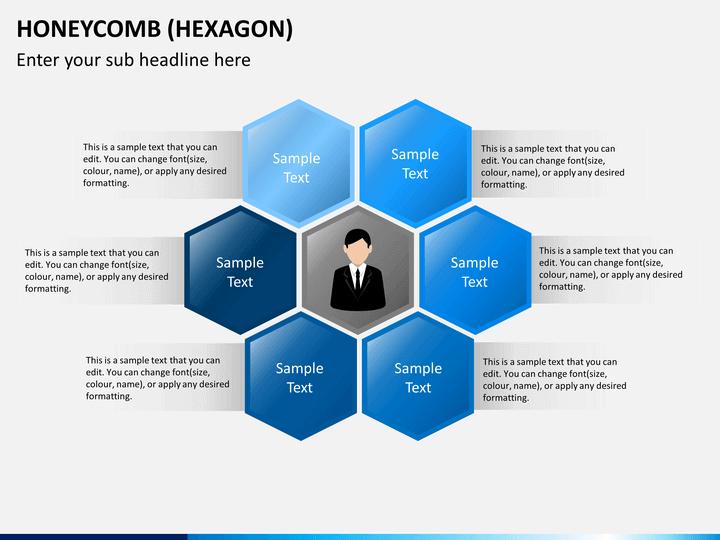 Honeycomb Hexagon Powerpoint Sketchbubble