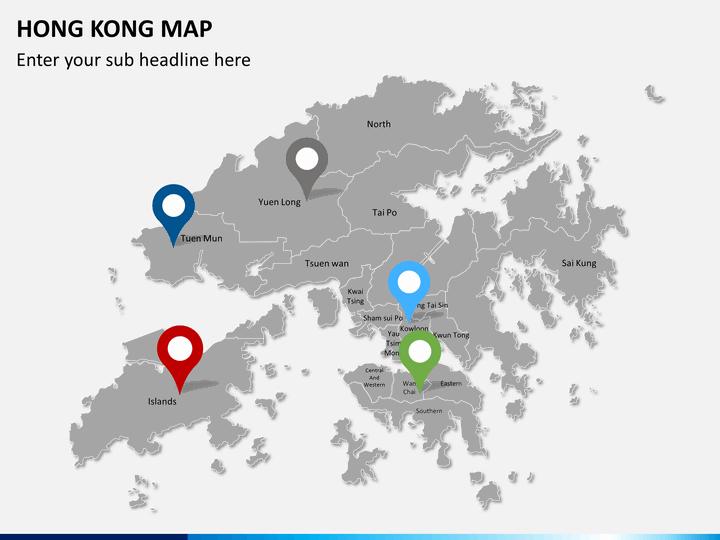 hong kong map powerpoint | sketchbubble, Modern powerpoint