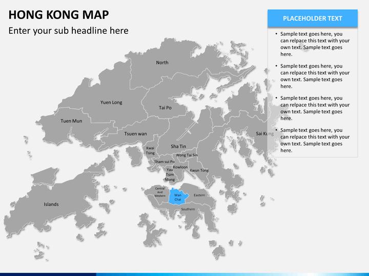 Cartina Hong Kong.Hong Kong Map Powerpoint Sketchbubble