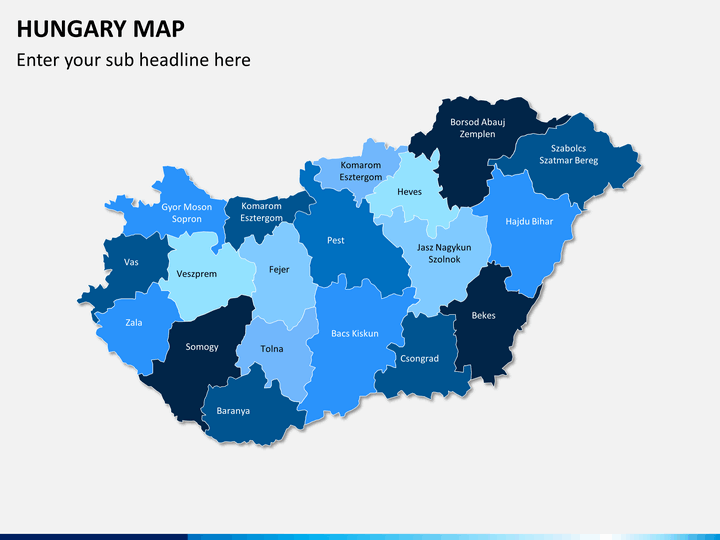 Hungary map PPT slide 1