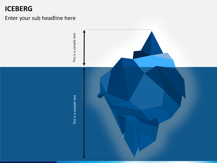 Iceberg PowerPoint Template   SketchBubble