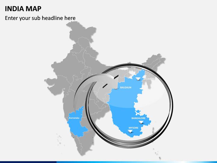 India Map PPT Slide 16