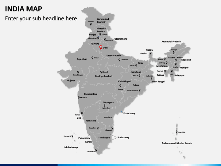 Editable India Map for PowerPoint | SketchBubble