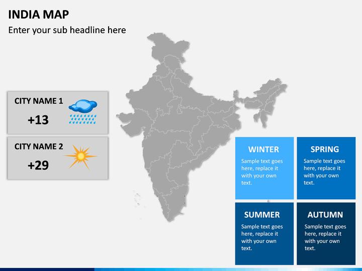 India Map PPT Slide 21