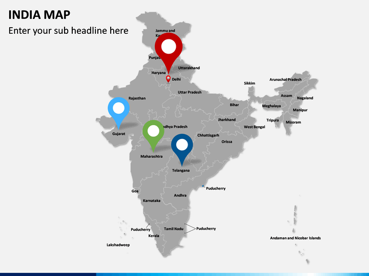 editable india map for powerpoint