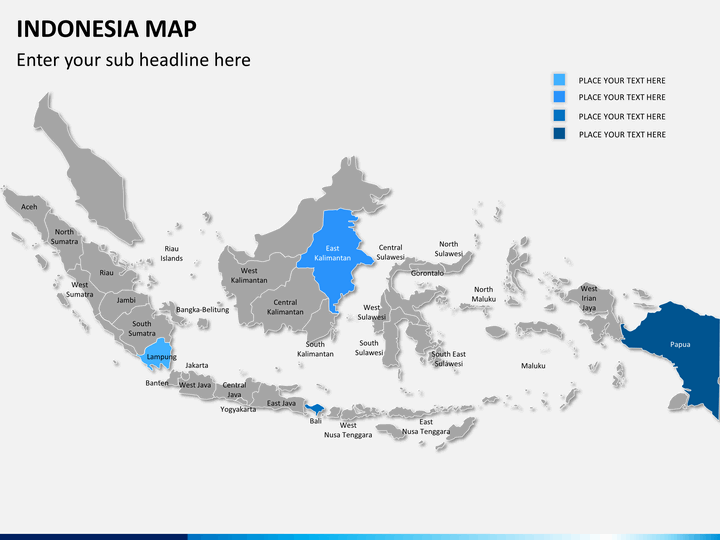 indonesia map powerpoint sketchbubble indonesia map