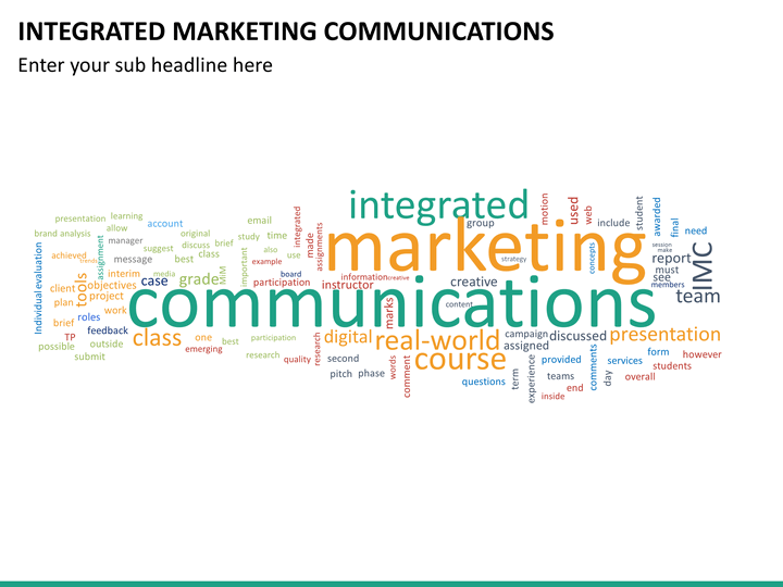what is integrated marketing communications Integrated marketing communication (imc) is the application of consistent brand messaging across both traditional and non-traditional marketing channels and using different promotional [disambiguation needed]methods to reinforce each other an app.