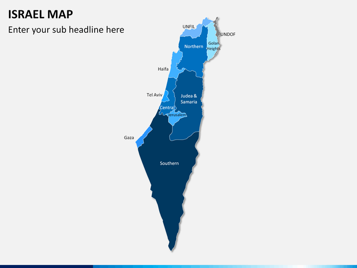 Israel Map PPT slide 1