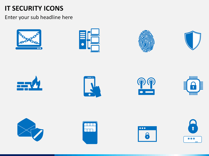it security icons powerpoint sketchbubble