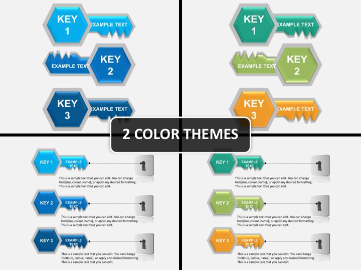Keys and keyhole PPT cover slide