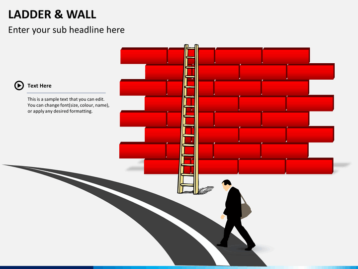 Ladder and walls PPT slide 1