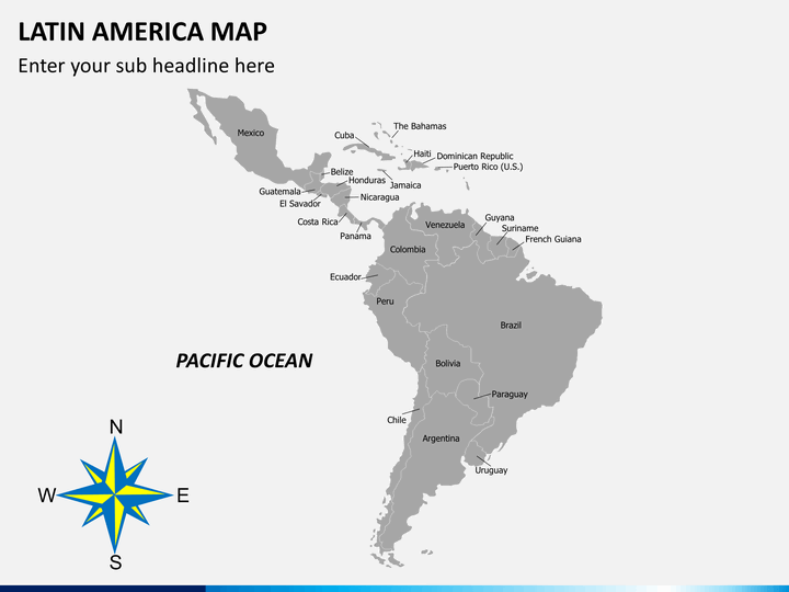 Latin America Map Powerpoint Sketchbubble