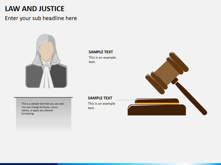 Law And Justice Powerpoint Template Sketchbubble