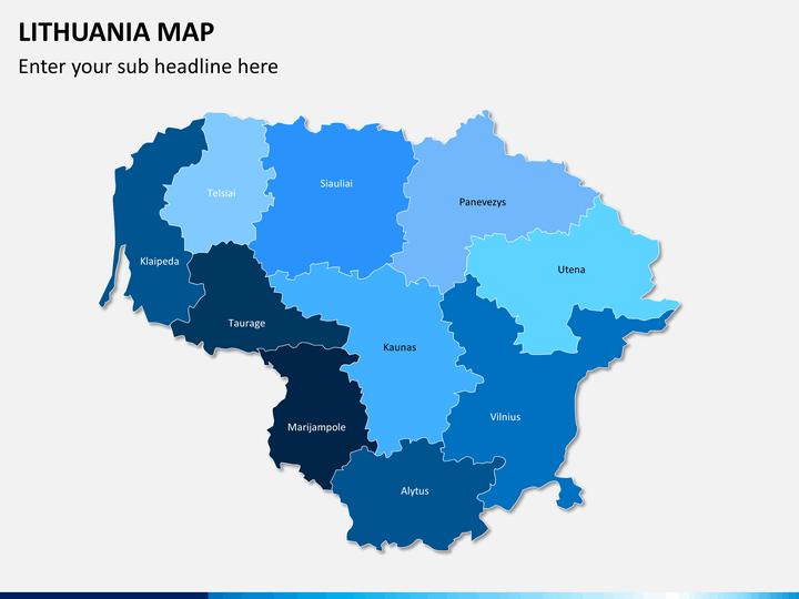 Lithuania map PPT slide 1