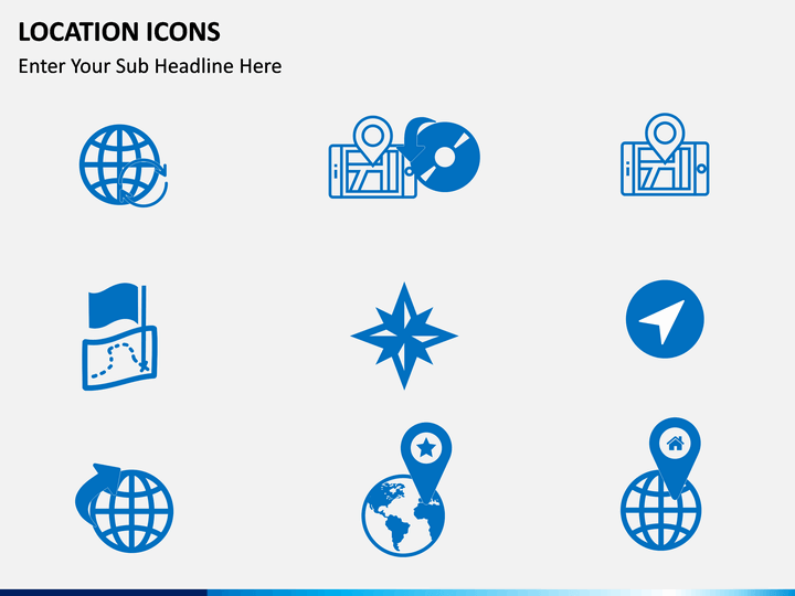 Location icons PPT slide 1