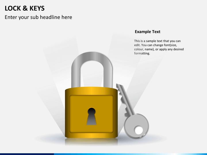 Lock and keys PPT slide 1