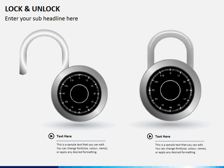 Lock and unlock PPT slide 1