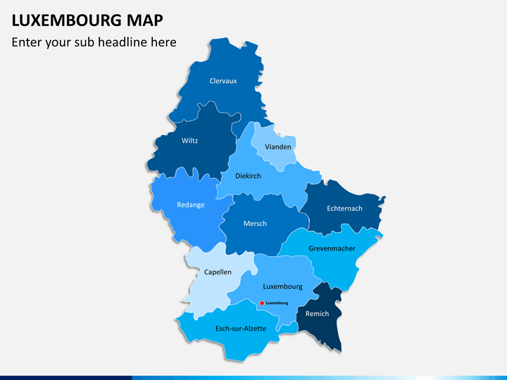 luxembourg map powerpoint