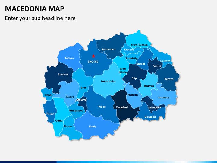 Macedonia map PPT slide 2