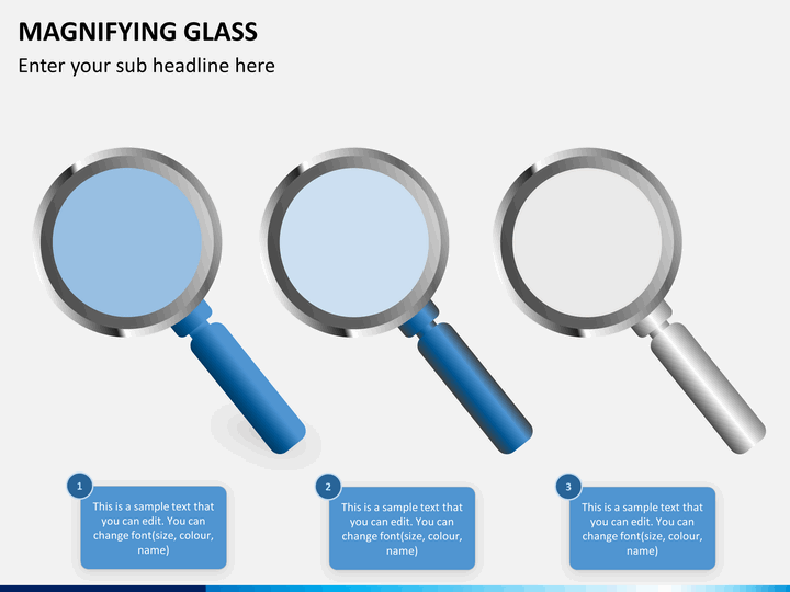 Magnifying Glass Powerpoint Template Sketchbubble