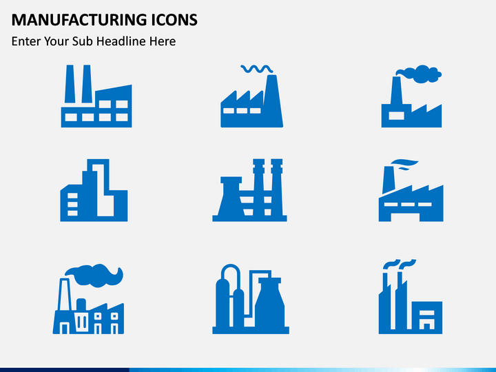 Manufacturing Icons Ppt Slide 1