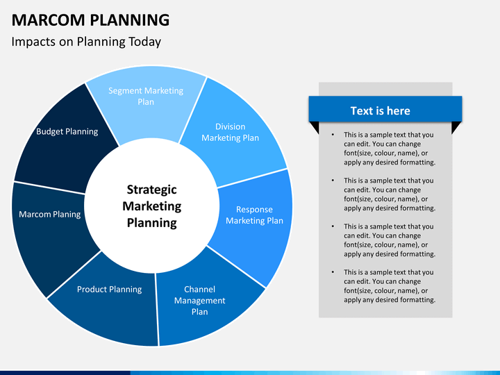 Marcom planning powerpoint template sketchbubble for Marcom strategy template