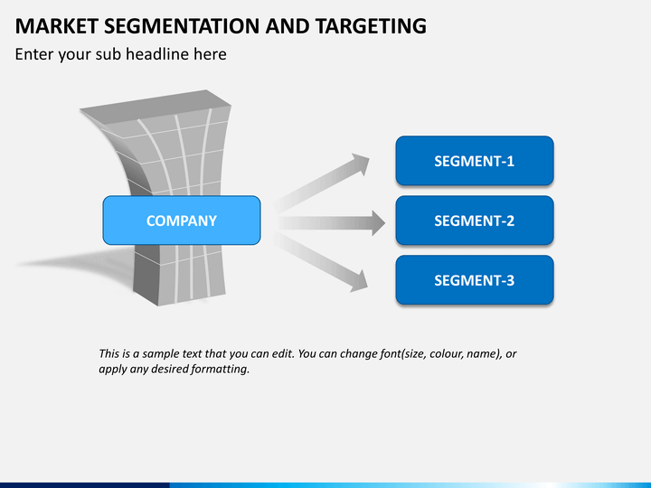 segmenting and targeting markets Market segmentation, targeting and positioning market segmentation concept : market segmentation is a concept in economics and marketing a market segment is a sub-set of a market made up of people or organizations with one or more characteristics that cause them to demand similar product and/or services based on qualities of those products .