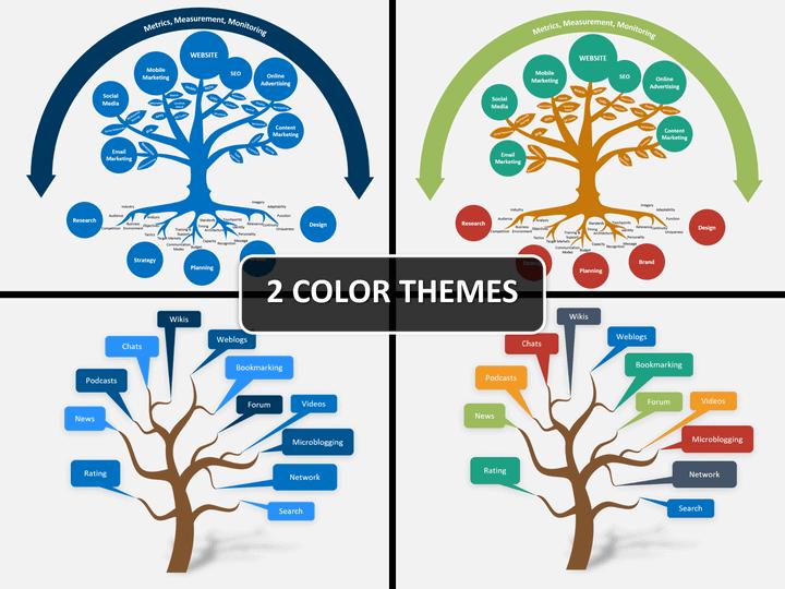Marketing tree PPT cover slide
