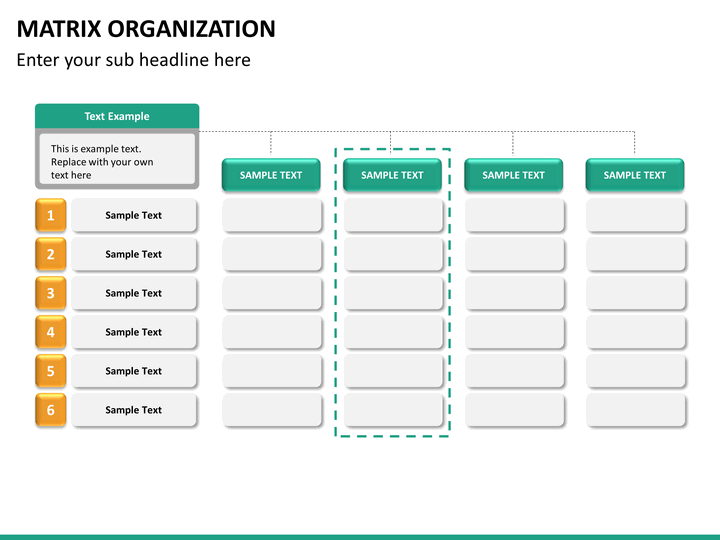 Matrix Organization Powerpoint Sketchbubble