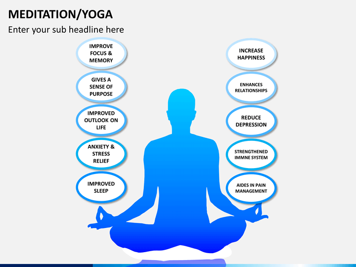 meditation  yoga powerpoint template