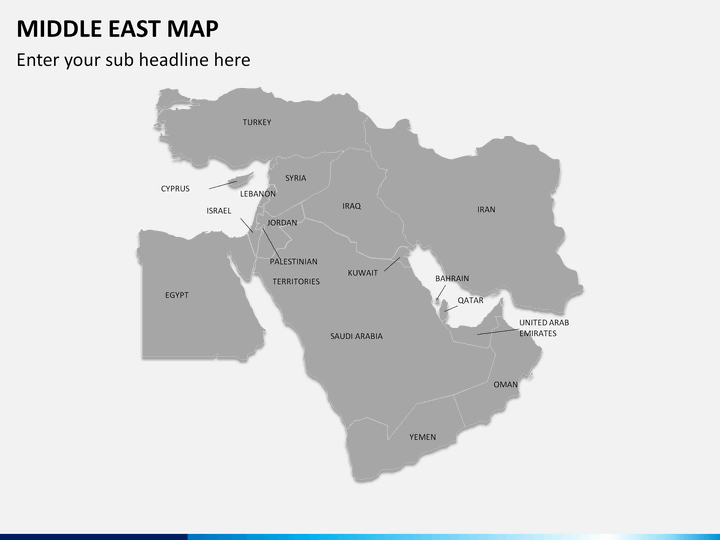 middle east map powerpoint
