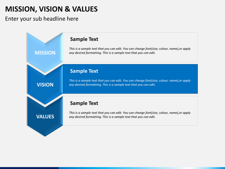 Mission vision and values powerpoint template sketchbubble for Values statement template