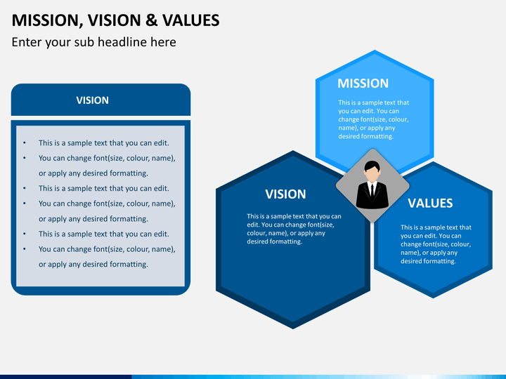 Mission vision and values powerpoint template sketchbubble for Vision statement template free