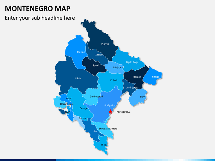 Montenegro map PPT slide 2