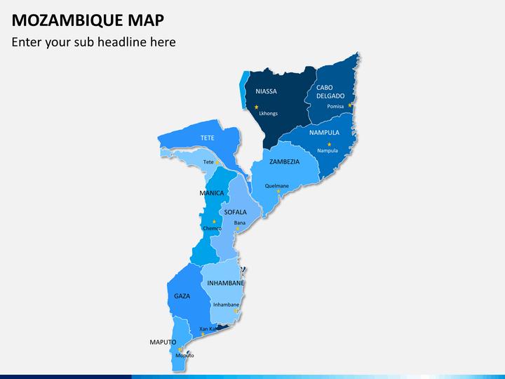 Mozambique map PPT slide 2