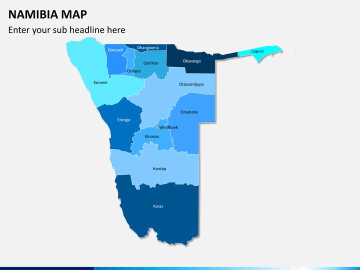 Namibia map PPT slide 2