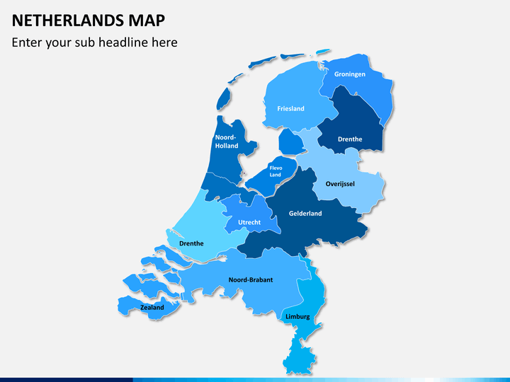Netherlands map PPT slide 1