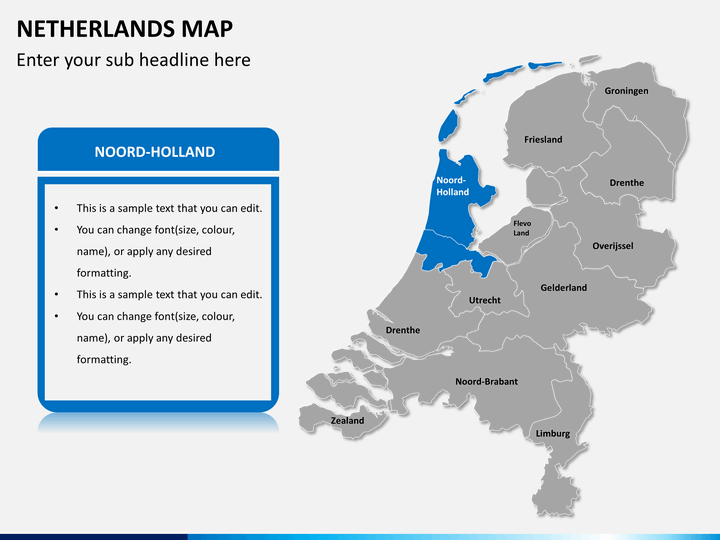 Netherlands Map PowerPoint SketchBubble